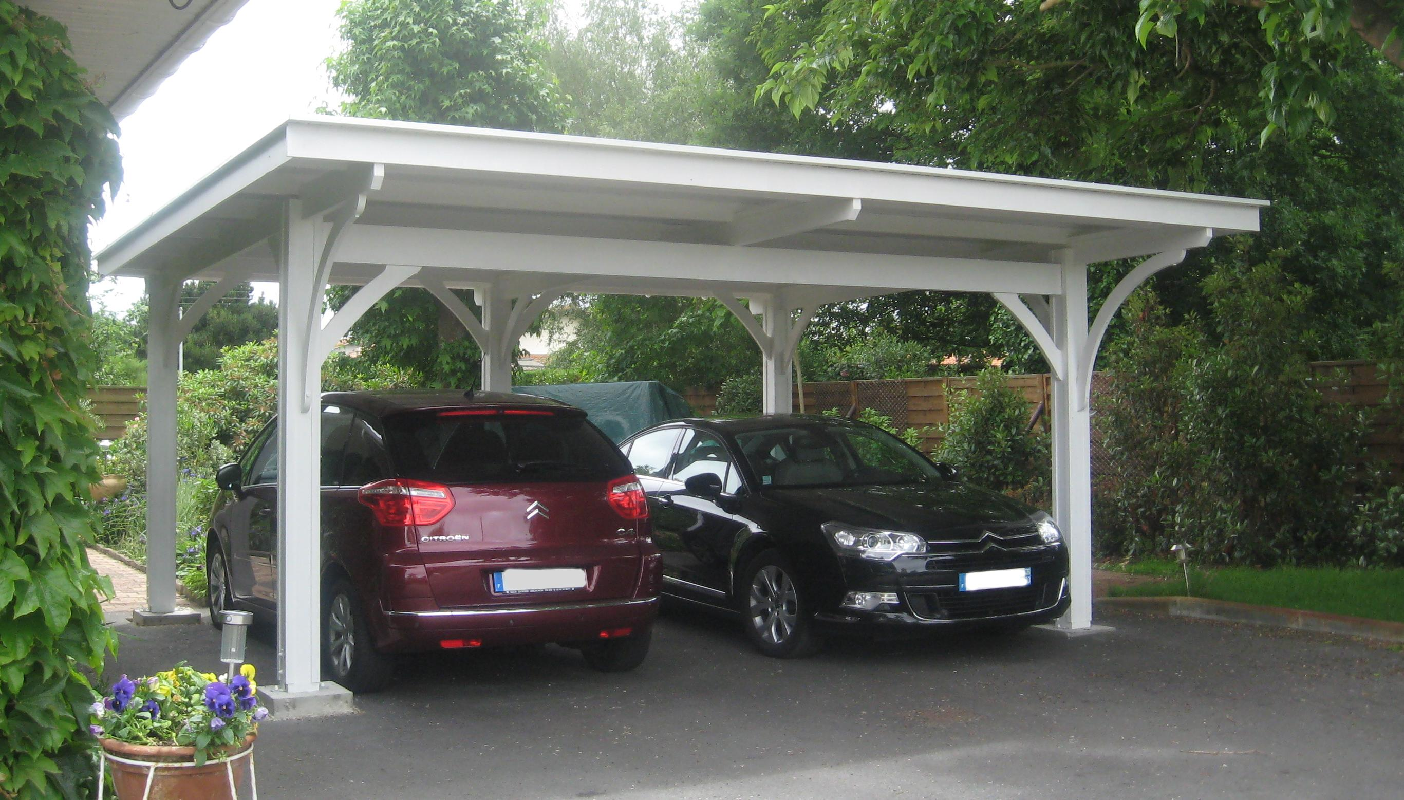 2 Car Metal Carport Flat : Les carports