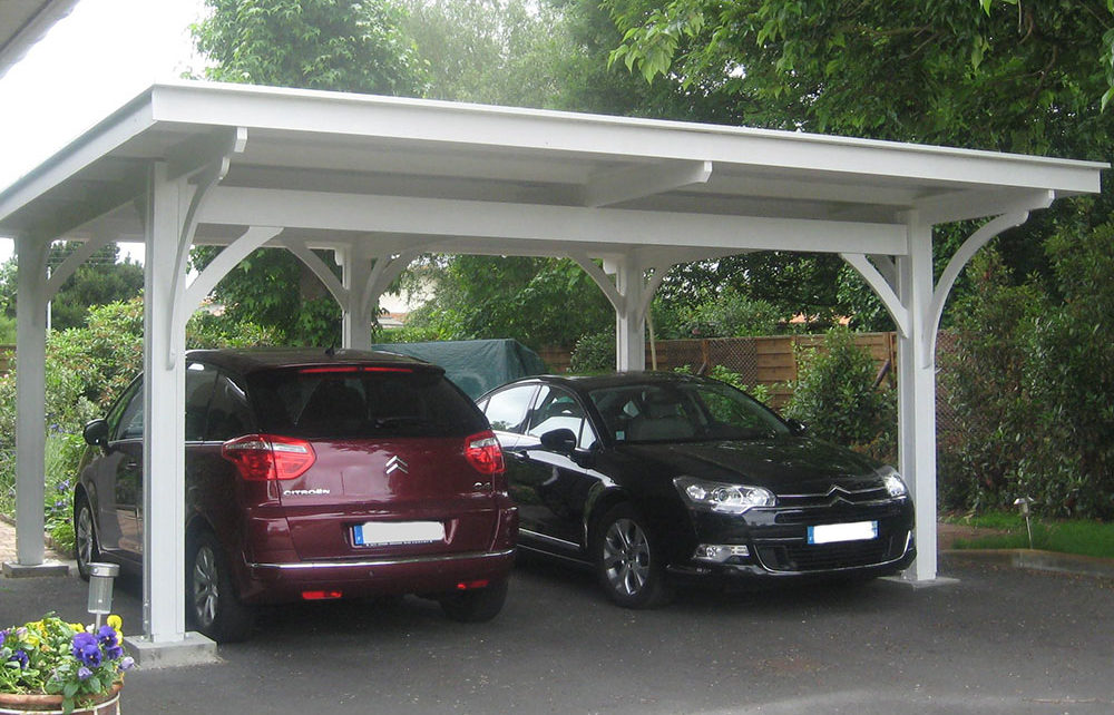 CARPORT DOUBLE<br/> dimensions de couverture 6.00 x 5.40