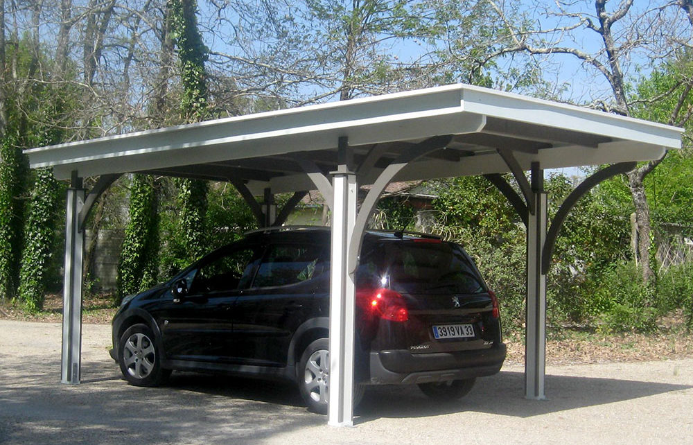 CARPORT SIMPLE<br/> dimensions de couverture 3.60 x 5.40