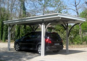 Carport simple bois