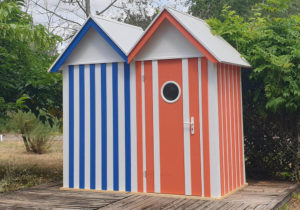 Abris jardin type cabine de plage